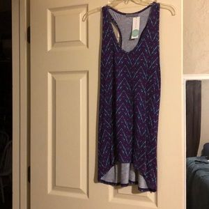 Loveappella purple and turquoise top